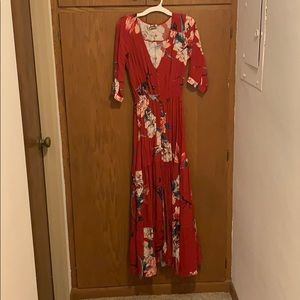 JAASE Red Maxi Dress size small